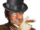 Sticker jesus cigare