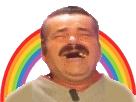 Sticker risitas arc en ciel heureux