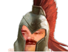 Sticker risitas chevalier guerre armee casque