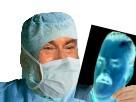 Sticker medecin chirurgien hopital docteur operation masque sang jesus