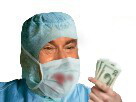 Sticker medecin chirurgien hopital docteur operation masque sang jesus billets
