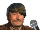 Sticker jesus chanteur micro barbe