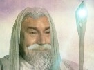 Sticker issou jesus gandalf