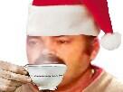 Sticker risitas noel cafe
