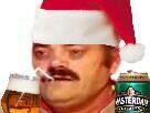 Sticker risitas noel bierre amsterdam dechet seul