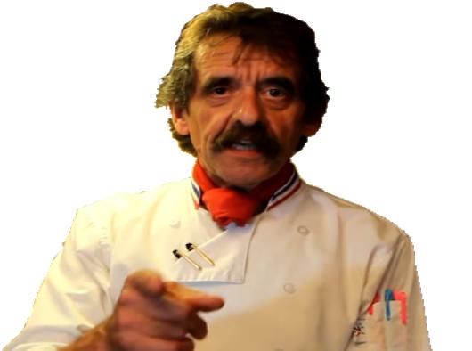 Sticker chef michel dumas cuisine bouffe