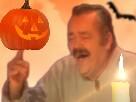 Sticker risitas halloween citrouille haloween