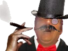 Sticker risitas juif fumee patron cigarette cigare