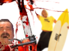 Sticker risitas tronconneuse tue mort brice nice