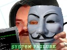 Sticker anonymous pirate piratage hacking hacker fail system