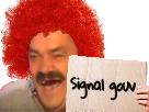 Sticker clown signal gouv ddb alerte rouge
