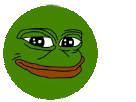 Sticker pepe frog grenouille
