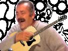 Sticker risitas gitan guitare musique