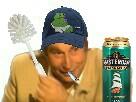 Sticker jesus quintero dechet toilettes biere fumer worthlessloser jvc forumeur dechet