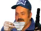 Sticker gilbert police risitas municipal cafe sucres matin gun pistolet arme