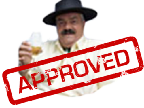 Sticker risitas approved