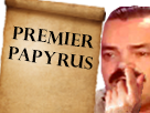 Sticker premiere page doigt papyrus risitas first