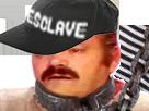 Sticker risitas esclave chaine pls casquette
