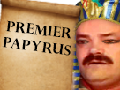 Sticker premier papyrus egyptien risitas egypte