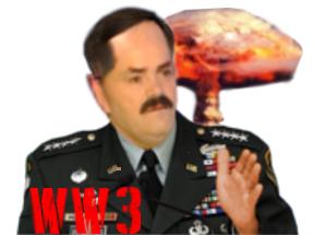 Sticker risitas commandant chef militaire sec armee wwiii troisieme guerre