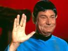 Sticker salut vulcain signe main doigt star trek spock serie science fiction