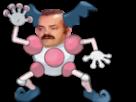 Sticker pokemon mime monsieur mr risitas
