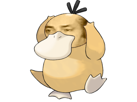 Sticker risitas pokemon psykokwak