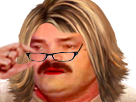 Sticker femme lunettes risitas blonde