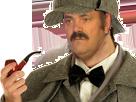 Sticker detective sherlock holmes pipe risitas