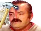 Sticker marteau tete sang risitas