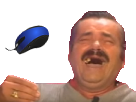 Sticker risitas rire souris bleu
