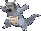 Sticker pokemon rhinoferos risitas