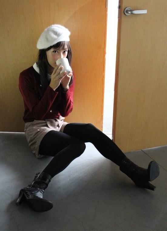 Jolie fille de l'école du japon