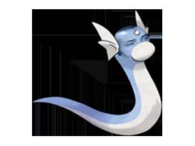 Sticker pokemon minidraco risitas