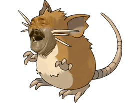 Sticker risitas pokemon 020 rattatac