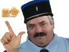 Sticker deux sucres gilbert gendarme police risitas