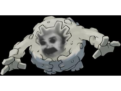 Sticker pokemon gravalanch risitas
