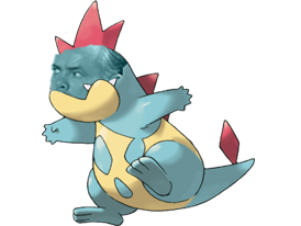 Sticker crocrodil pokemon risitas johto