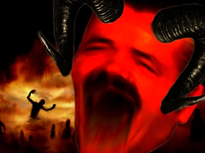 Sticker demon sheitan