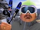 Sticker risitas jesus froid hiver ski agentfisher