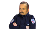 Sticker risitas jesus police gilbert agentfisher