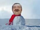 Sticker risitas bonhomme de neige noel