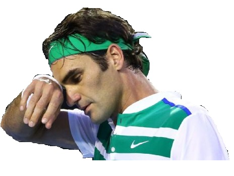 Sticker tennis federer sueur stress