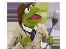Sticker kermit w9 frog grenouille