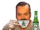 Sticker risitas biere worthlessloser dechet dejeuner jvc forumeur