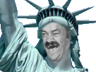 Sticker risitas statue liberte usa etas unis monument