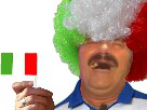 Sticker risitas italie perruque drapeau