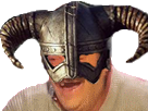 Sticker risitas skyrim viking casque