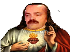 Sticker vierge marie chretien saint risitas