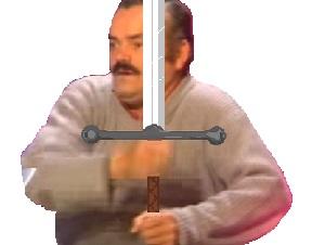 Sticker epee soldat guerrier chevalier